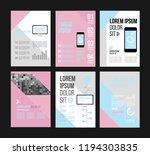 vector brochure template design ... | Shutterstock .eps vector #1194303835