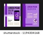 vector brochure template design ... | Shutterstock .eps vector #1194304168