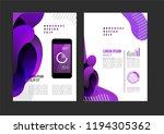 vector brochure template design ... | Shutterstock .eps vector #1194305362