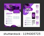 vector brochure template design ... | Shutterstock .eps vector #1194305725