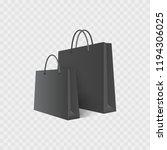 shopping bag. isolated on white.... | Shutterstock .eps vector #1194306025