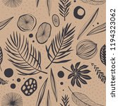 seamless tropical pattern. ... | Shutterstock .eps vector #1194323062