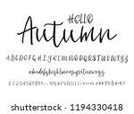 modern calligraphy vintage... | Shutterstock .eps vector #1194330418