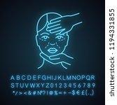 cosmetologist examination neon... | Shutterstock .eps vector #1194331855