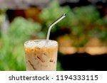 iced caramel macchiato coffee...   Shutterstock . vector #1194333115