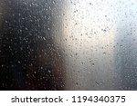 water drop on metal   Shutterstock . vector #1194340375
