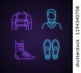 trauma treatment neon light... | Shutterstock .eps vector #1194340708