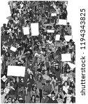 illustration of large crowd... | Shutterstock .eps vector #1194343825