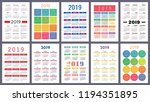 calendar 2019. colorful set.... | Shutterstock .eps vector #1194351895