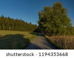 meadows and forest in sumava... | Shutterstock . vector #1194353668