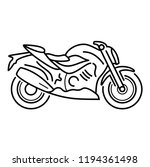 high speed sport motorcycle.... | Shutterstock .eps vector #1194361498