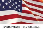 flag of united states  3d... | Shutterstock . vector #1194363868