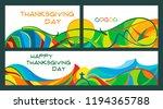 set of banners for thanksgiving ... | Shutterstock .eps vector #1194365788