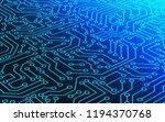blue circuit board pattern... | Shutterstock . vector #1194370768