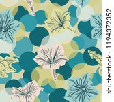 seamless vector floral pattern... | Shutterstock .eps vector #1194372352