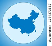 map of china | Shutterstock .eps vector #1194373852