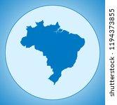 map of brazil | Shutterstock .eps vector #1194373855