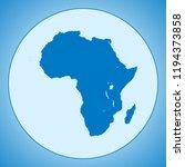 map of africa | Shutterstock .eps vector #1194373858