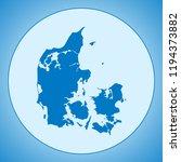 map of denmark | Shutterstock .eps vector #1194373882