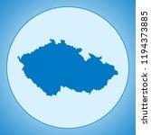 map of czech republic | Shutterstock .eps vector #1194373885
