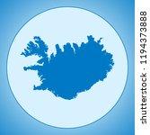 map of iceland | Shutterstock .eps vector #1194373888