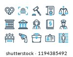 law and justice related line... | Shutterstock .eps vector #1194385492