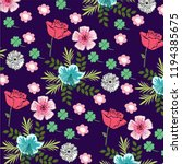 flower vector pattern art | Shutterstock .eps vector #1194385675