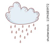 cloud raining cartoon | Shutterstock .eps vector #1194385972