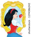 princess snow white  magic... | Shutterstock .eps vector #1194386242