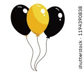 black and yellow balloons | Shutterstock .eps vector #1194390838