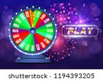 vector fortune wheel  online... | Shutterstock .eps vector #1194393205