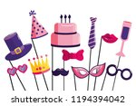happy birthday cartoon | Shutterstock .eps vector #1194394042