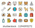 cute dog related icon set such... | Shutterstock .eps vector #1194395272