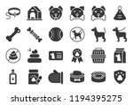 cute dog related icon set such... | Shutterstock .eps vector #1194395275