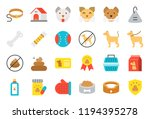 cute dog related icon set such... | Shutterstock .eps vector #1194395278