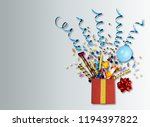 birthday background birthday... | Shutterstock . vector #1194397822