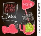 strawberry fresh juice | Shutterstock .eps vector #1194398272