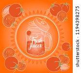 tomato fresh juice | Shutterstock .eps vector #1194398275