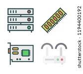 hardware icon set. vector set... | Shutterstock .eps vector #1194400192