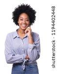 portrait of a beautiful afro... | Shutterstock . vector #1194402448