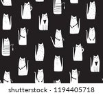 cats on black background... | Shutterstock .eps vector #1194405718