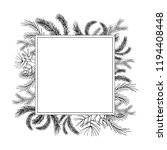square winter plants frame. fir ... | Shutterstock .eps vector #1194408448