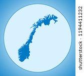map of norway | Shutterstock .eps vector #1194411232