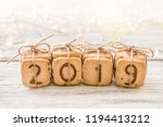 gift festive christmas digits... | Shutterstock . vector #1194413212