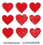 grunge hearts design.vector... | Shutterstock .eps vector #1194420298