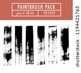 paintbrush stroke vector set ... | Shutterstock .eps vector #1194421765