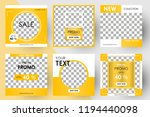 editable post template social... | Shutterstock .eps vector #1194440098