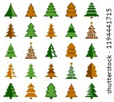 christmas tree icon collection  ... | Shutterstock .eps vector #1194441715