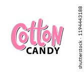 cotton candy on stick. text... | Shutterstock .eps vector #1194443188