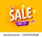 super sale  big  mega banner ... | Shutterstock .eps vector #1194443968